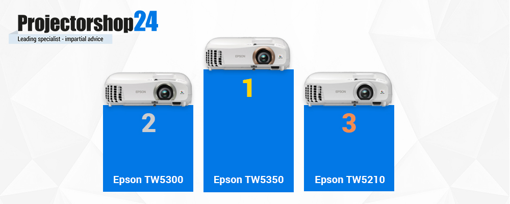 Epson entry level, 3D-Full-HD Projectors in comparison