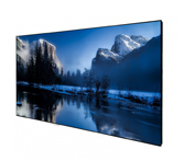 DELUXX Cinema High Contrast Fixed frame Screen SlimFrame 221 x 124cm, 100 Zoll - DARKVISION