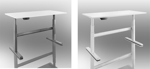 Electrically height adjustable tables
