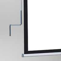 Crank-operated screen