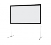 celexon Folding Frame screen 244 x 137cm Mobile Expert, front projection