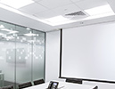 Ceiling recessed screens