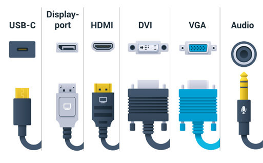Connections in monitors