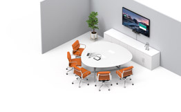 Video conference systems by room