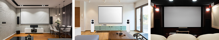 Home cinema projection