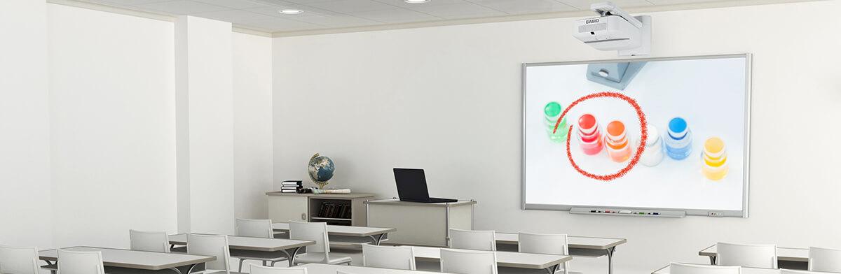 Casio Beamer für die Schule | Langlebig, energieeffizient und kostensparend