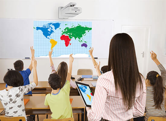 Projectors in educational institutions