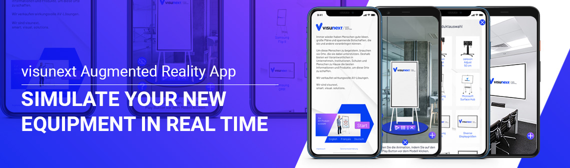 visunext Augmented Reality App - Simulate your new equipment in real time